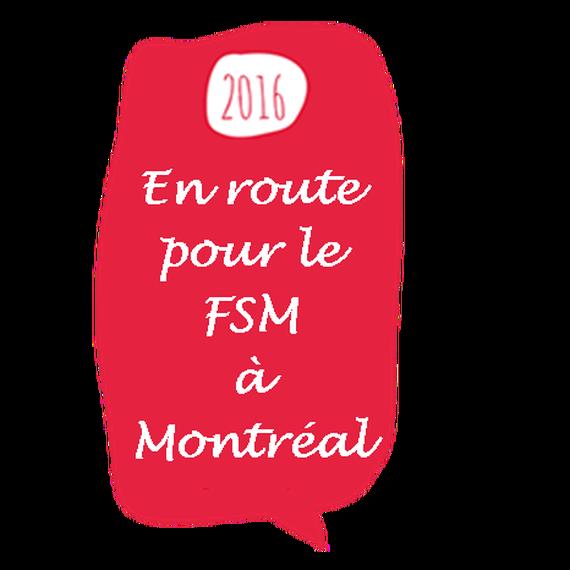 En route pour le FSM à Montréal