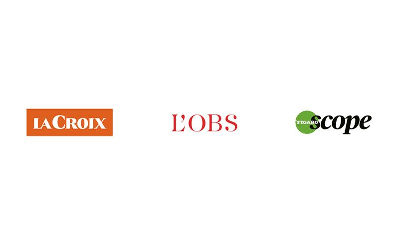 Nos partenaires média : La Croix, L'Obs, le Figaroscope