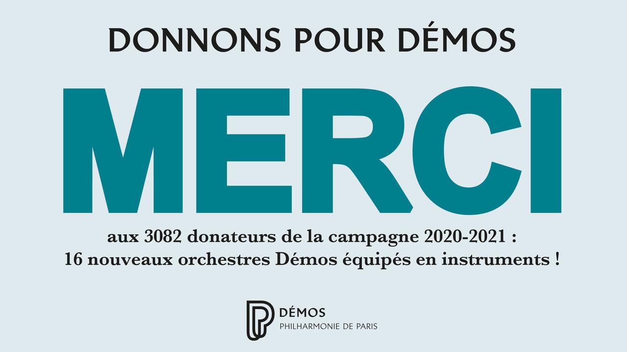 Clap de fin pour Donnons pour Démos 2020-2021